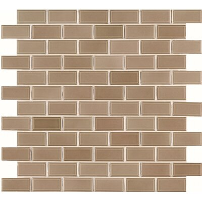 Bevel 2 x 4 Ceramic Mosaic Tile in Taupe