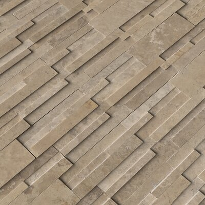 6 x 24 Travertine Splitface Tile in Cordoba Noche