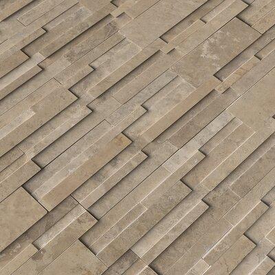 6 x 24 Travertine Splitface Tile in Cordoba Noche (Set of 3)