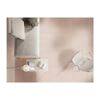 Livingstyle 24x 24 Porcelain Field Tile in Cream (Set of 3)