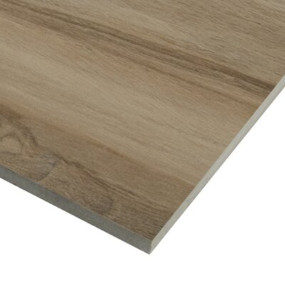 Aspenwood 9 x 48 Porcelain Wood Tile in Amber