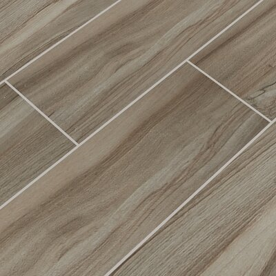 Aspenwood 9 x 48 Porcelain Wood Tile in Ash