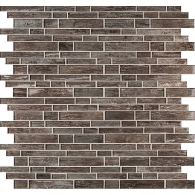 Antico Silversmith Interlocking Random Sized Glass Mosaic Tile in Gray
