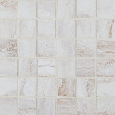 Bernini Bianco 2 x 2 Porcelain Mosaic Tile in Beige