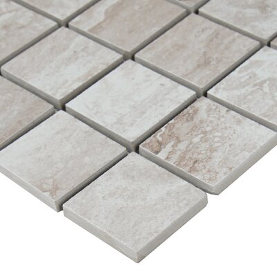 Bernini Camo 2 x 2 Porcelain Mosaic Tile in Gray
