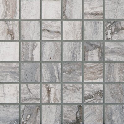 Bernini Carbone 2 x 2 Porcelain Mosaic Tile in Gray