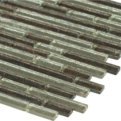 Luxe Interlocking Random Sized Glass Mosaic Tile in Brown