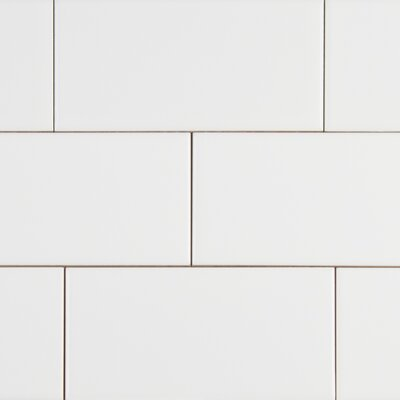 Random Sized 3 x 6 Ceramic Subway Tile in White