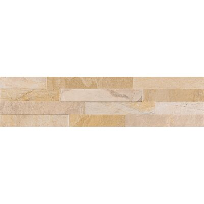 Canyon Ledger 6 x 24 Porcelain Field Tile in Beige