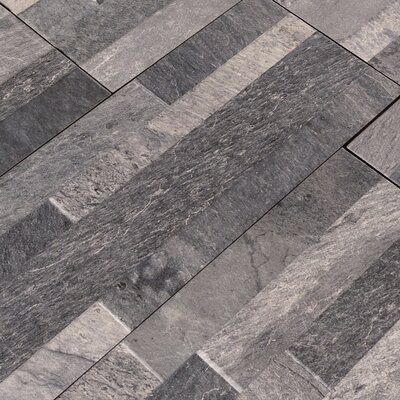Ardesia Ledger 6 x 24 Porcelain Field Tile in Gray