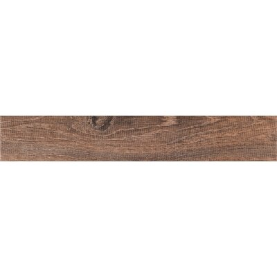 Upscape Bruno 3 x 18 Porcelain Wood Look Tile in Brown