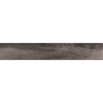 Upscape Nero 3 x 18 Porcelain Wood Look Tile in Black