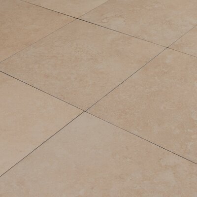 Travertino 24 x 24 Porcelain Field Tile in Beige (Set of 3)