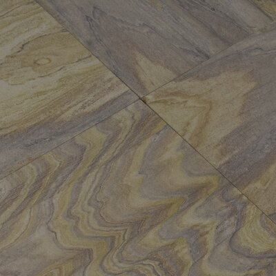 Rainbow Teak 12 x 12 Sandstone Field Tile in Purple
