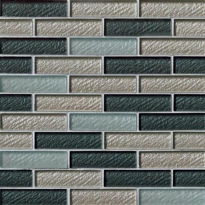 Cielo Brick 1 x 4 Glass Mosaic Tile in Blue