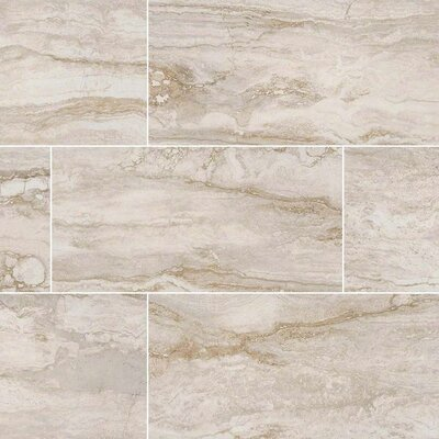Bernini Pietra Bianco Mosaic Polished 2 x 4 Porcelain Tile in White