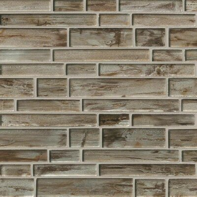 Zirconia Interlocking Random Sized Glass Tile in Brown