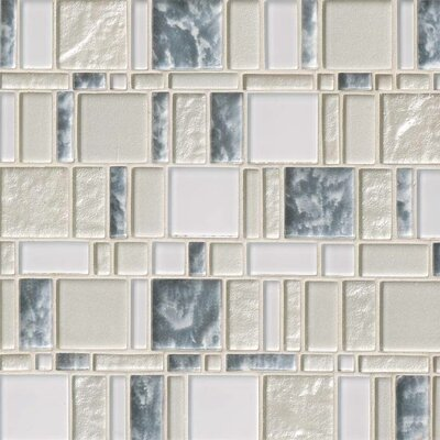 Chantilly Stax Random Sized Glass Mosaic Tile in Gray