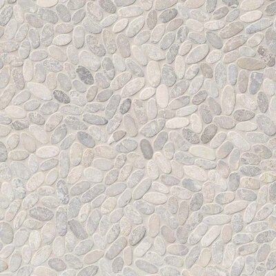 Sliced Pebble Ash Random Sized Marble Tile in Brown/Beige