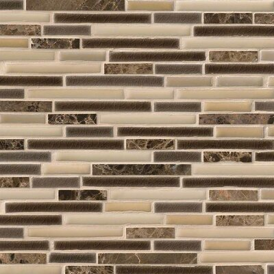 Verona Interlocking Pattern Random Sized Porcelain/Stone Tile in Beige