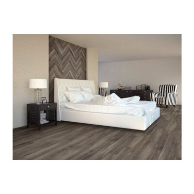 Upscape Greige 6 x 40 Porcelain Wood Look Tile in Brown