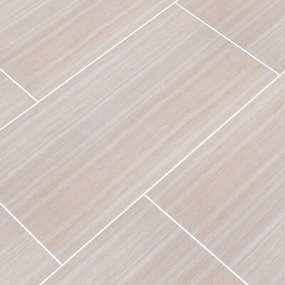 Charisma 12 x 24 Ceramic Field Tile in White