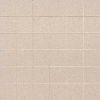 Optima Mesh-Mounted 2 x 2 Porcelain Mosaic Tile in Beige