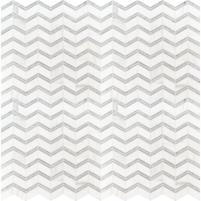 Bianco Dolomite 12 x 12 Marble Mosaic Tile in White