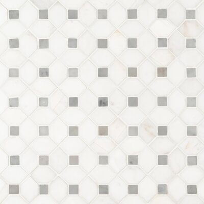 Bianco Dolomite 12.31 x 12.36 Marble Mosaic Tile in White