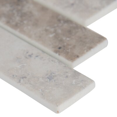 Zodia Random Sized Glass Mosaic Tile in Gray