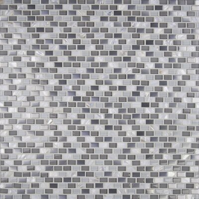 Keshi 12 x 12 Glass/Metal Mosaic Tile in White