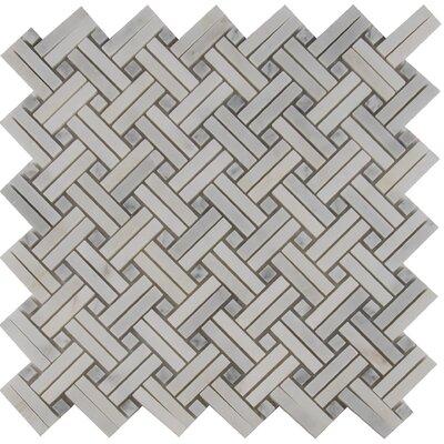 Greecian White 12 x 12 Marble Mosiac Tile in White