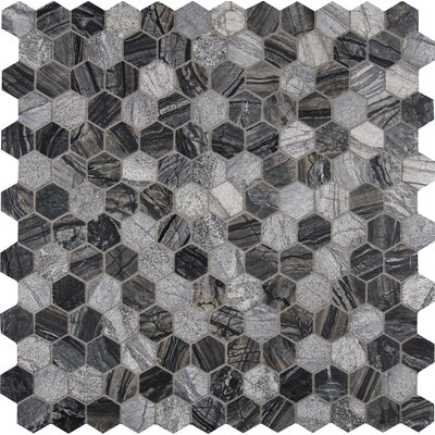 Henley 2 x 2 Marble Mosaic Tile in Black