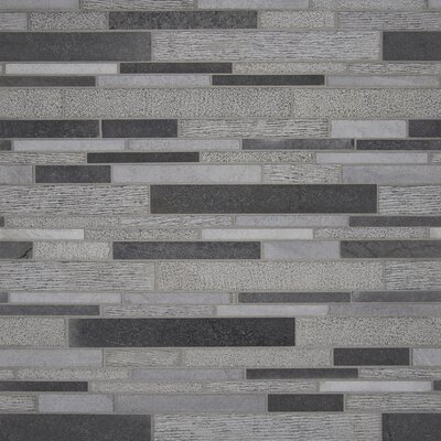Mystic Random Sized Basalt Mosaic Tile in Gray