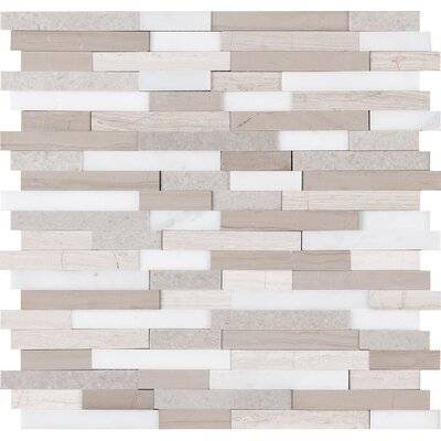 Artic Random Sized Marble Mosaic Tile in Gray