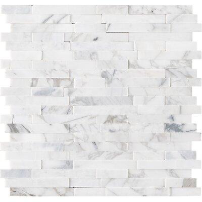 Calacatta Cressa Random Sized Marble Mosaic Tile in White