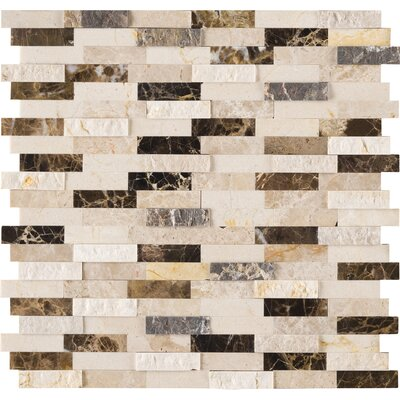Emperador Marble Mosaic Tile in Brown