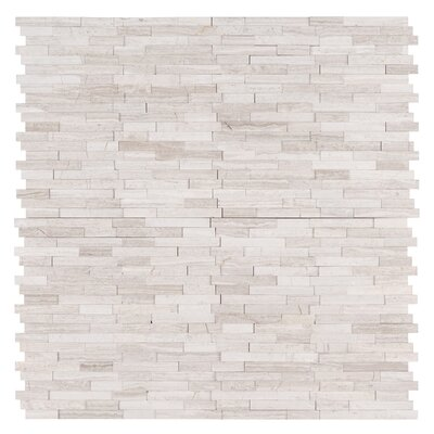White Quarry Marble Mosaic Tile in Gray