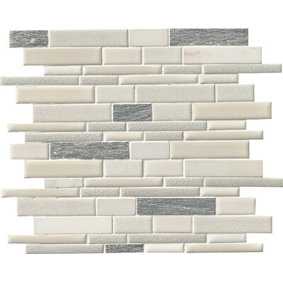 Everest Random Sized Porcelain/Stone Mosaic Tile in White