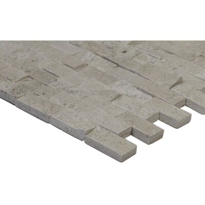 Puebla 1 x 2 Travertine Mosaic Tile in Beige