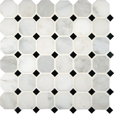 Greecian 2 x 2 Marble Mosaic Tile in White