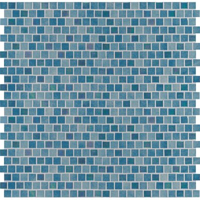 Caribbean Reef 1 x 1 Glass Mosaic Tile in Green