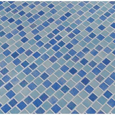 Hawaiian 1 x 1 Glass Mosaic Tile in Blue
