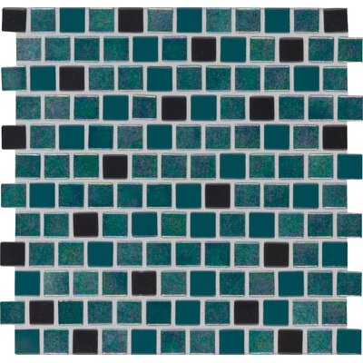 Caribbean Mermaid 1 x 1 Glass Mosaic Tile in Green