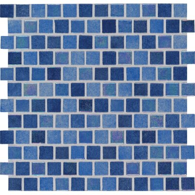 Hawaiian Sky 1 x 1 Glass Mosaic Tile in Blue