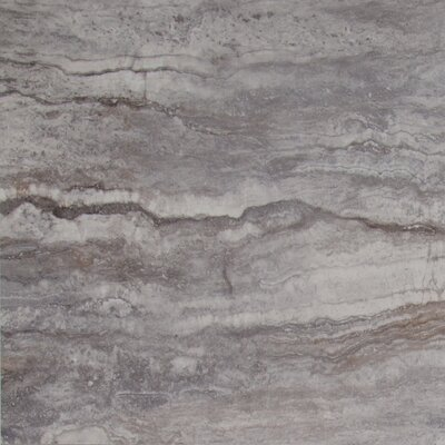 Pietra Bernini 18 x 18 Porcelain Field Tile in Gray