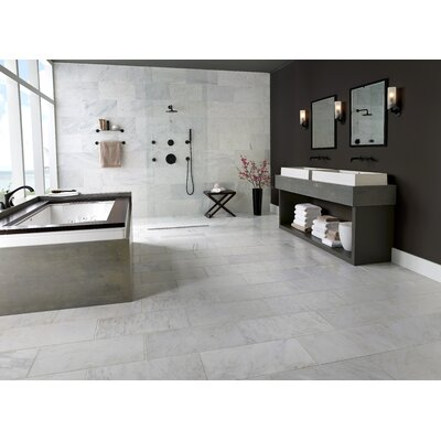 Carrara 12 x 24 Natural Stone Field Tile in Gray