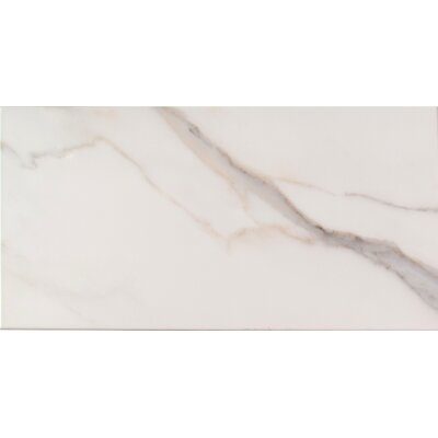 Adella 12 x 24 Ceramic Field Tile in White/Cream