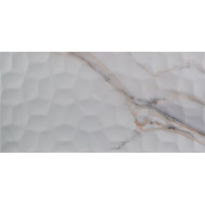 Adella Viso 12 x 24 Ceramic Field Tile in White