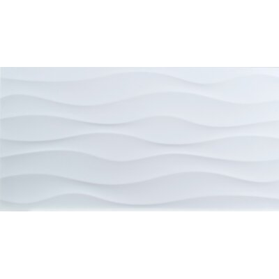 Dymo Wavy 12 x 24 Ceramic Field Tile in White